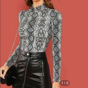 SHEIN SNAKESKIN LONG SLEEVE